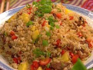 Chicken Sausage Fried Rice With Pineapple